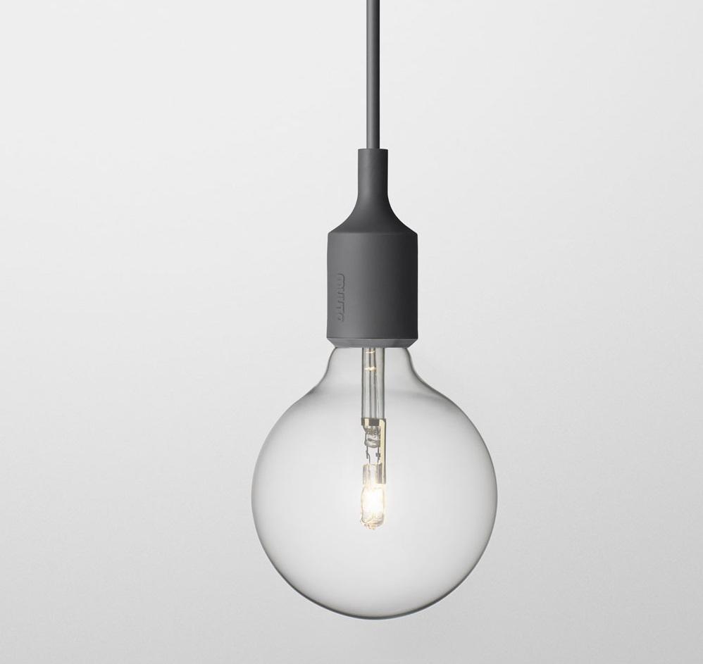 Светильник Muuto E27 dark grey от Roomble