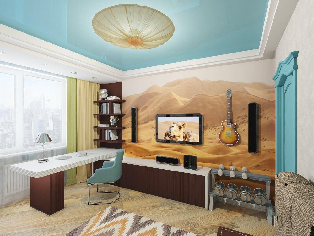 Мебель и предметы интерьера в цветах: бирюзовый, светло-серый, белый, бежевый. Мебель и предметы интерьера в стилях: эклектика.