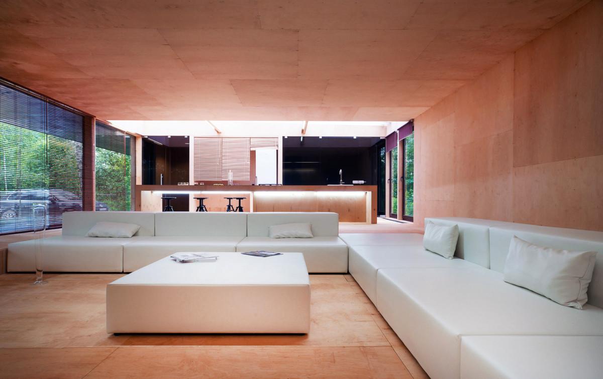Гостиная, холл в цветах: белый, коричневый, бежевый. Гостиная, холл в стилях: минимализм, экологический стиль.