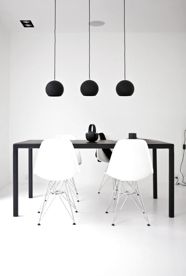 Мебель и предметы интерьера в цветах: черный, белый. Мебель и предметы интерьера в стиле минимализм.