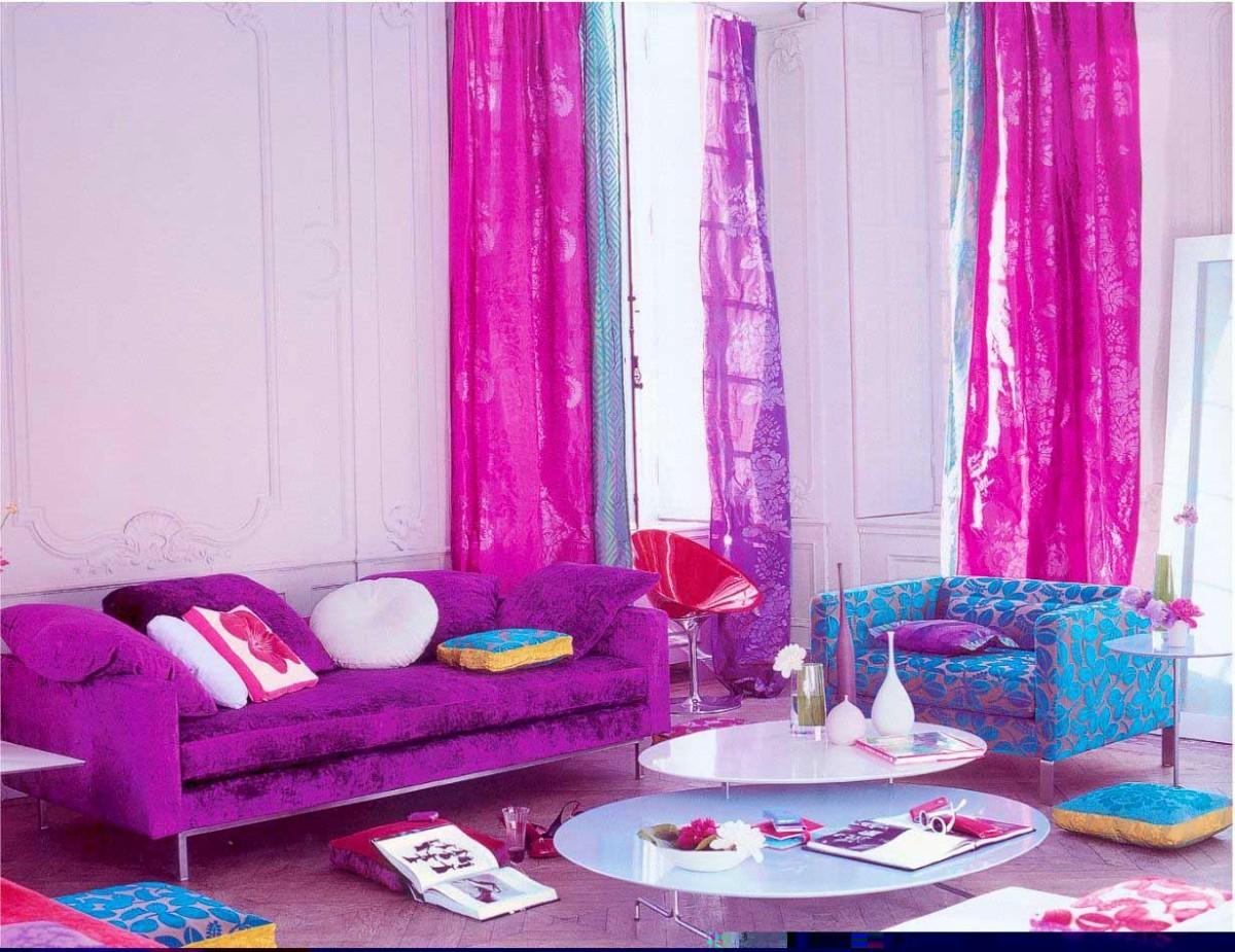 Гостиная, холл в цветах: голубой, белый, розовый, сиреневый. Гостиная, холл в стилях: поп-арт.