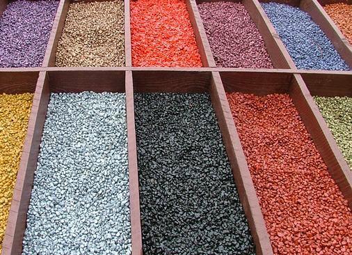 Ландшафт в цветах: оранжевый, бирюзовый, фиолетовый, черный, серый. Ландшафт в стиле экологический стиль.