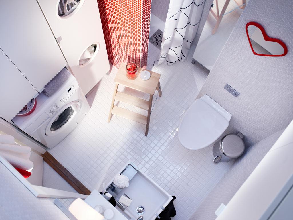 Туалет в цветах: голубой, серый, белый, бежевый. Туалет в .