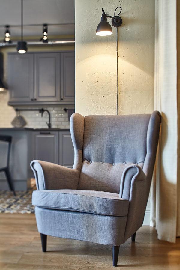 Мебель и предметы интерьера в цветах: серый, светло-серый, белый. Мебель и предметы интерьера в стилях: классика.