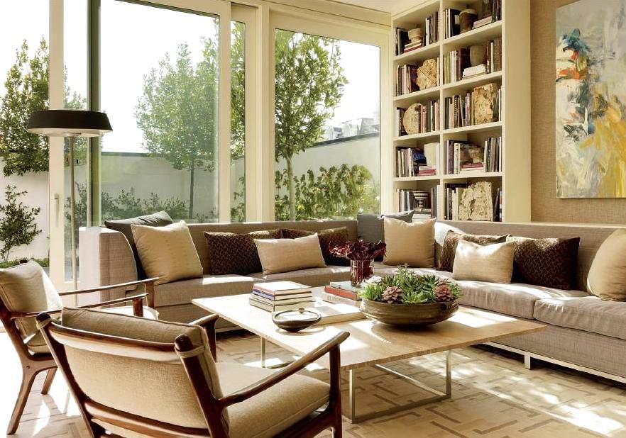 Балкон, веранда, патио в цветах: светло-серый, коричневый, бежевый. Балкон, веранда, патио в стилях: английские стили.