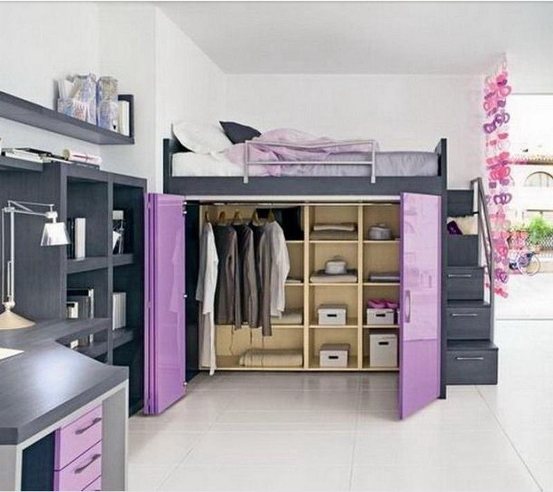 Спальня в цветах: черный, серый, белый, сиреневый, бежевый. Спальня в .