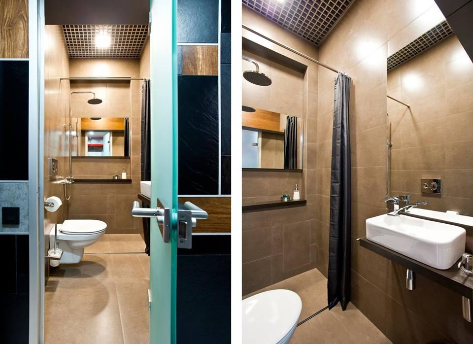 Туалет в цветах: черный, серый, белый, коричневый, бежевый. Туалет в .