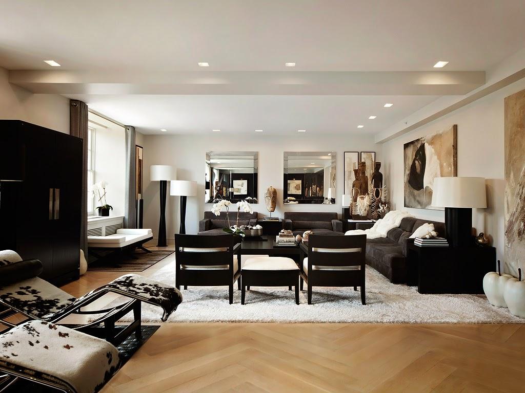 Гостиная, холл в цветах: черный, серый, коричневый, бежевый. Гостиная, холл в стилях: этника, эклектика.