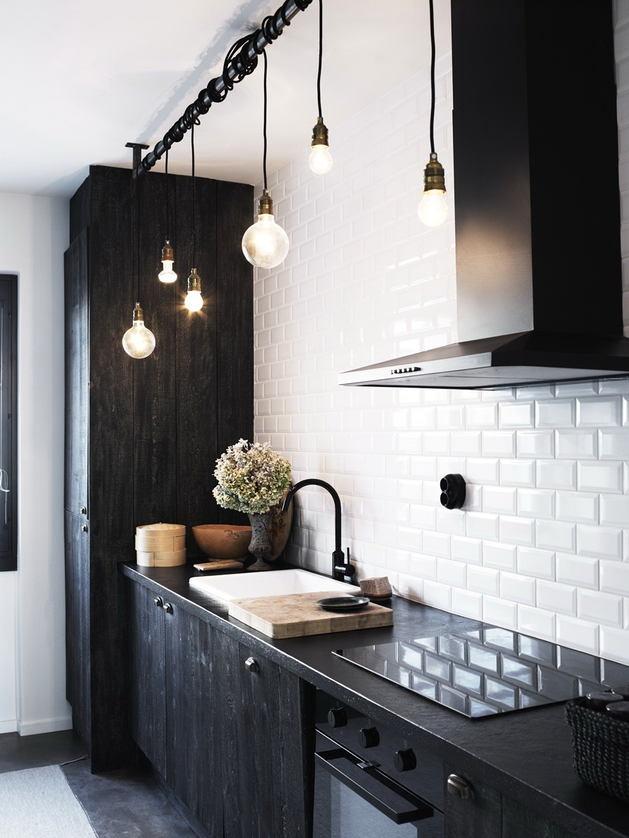 Кухня в цветах: черный, серый, белый, коричневый. Кухня в .
