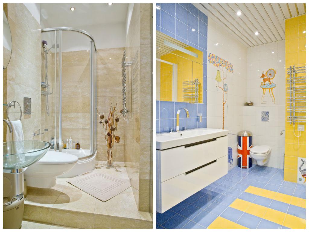 Туалет в цветах: голубой, серый, светло-серый, бежевый. Туалет в стилях: классика.
