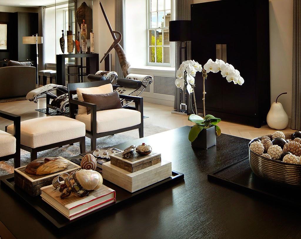 Гостиная, холл в цветах: черный, серый, белый, коричневый. Гостиная, холл в стилях: этника, эклектика.