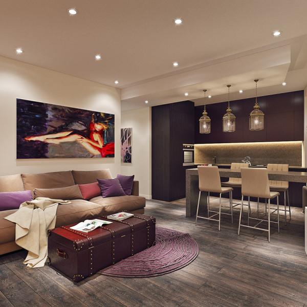 Уютная квартира площадью 75 метров для молодой семьи с ребенком